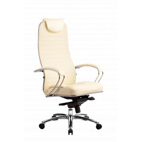 Kožená kancelářská židle SAMURAI - KL1 béžová HODNOTY čalounění Samurai béžová kůže